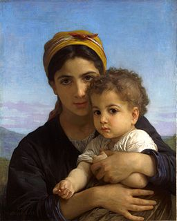 William-Adolphe Bouguereau (1825-1905) - Young Girl and Child (1877)