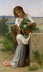 William-Adolphe Bouguereau - À la fontaine (1897).jpg
