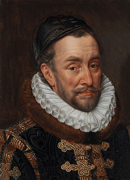 Portret van Willem van Oranje in 1580 door Adriaen Thomasz Key