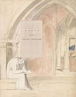"William Blake - The Poems of Thomas Gray, Design 105, ""Elegy Written in a Country Church-Yard."" - Google Art Project"