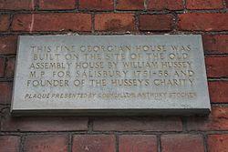 Photo of William Hussey stone plaque