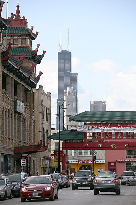 Willis Tower as viewed from Chicago's Chinatown Willis Tower Chinatown.jpg