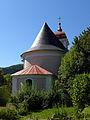Wimberg im Yspertal - Pfarrkirche hl Urban - Ansicht vom Pfarrhof.jpg
