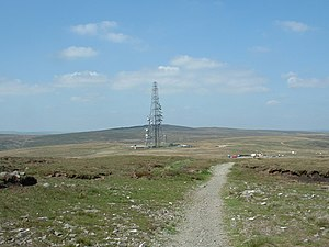 Windy Hill (Pennines) - Image: Windy Hill Transmitter