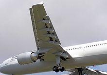 Un esempio dell'ala del primo modello di Airbus, l'A300