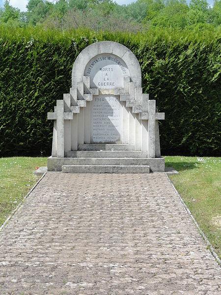 Wissignicourt (Aisne) monument aux morts