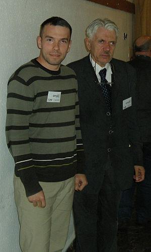 Andrzej Schinzel - Andrzej Schinzel and Adam Grygiel in 2010