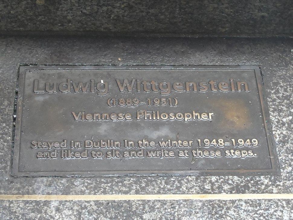 Wittgenstein plaque, National Botanic Gardens, Ireland