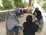 Women from 203rd Zone Afghan Border Police and TAAC-S attend shura at Kandahar Airfield, Afghanistan 150809-N-SQ656-032.jpg