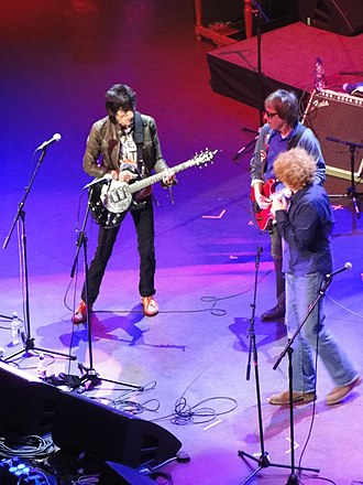 Ronnie Wood - Ronnie Wood, Bill Wyman and Mick Hucknall at Faces reunion performance, 25 October 2009