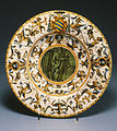Workshop of the Patanazzi family - Broad-Rimmed Dish with Saint Paul - Walters 481516.jpg