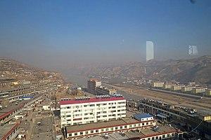 Wubu County - Image: Wubu and the Yellow River (20151229132113)