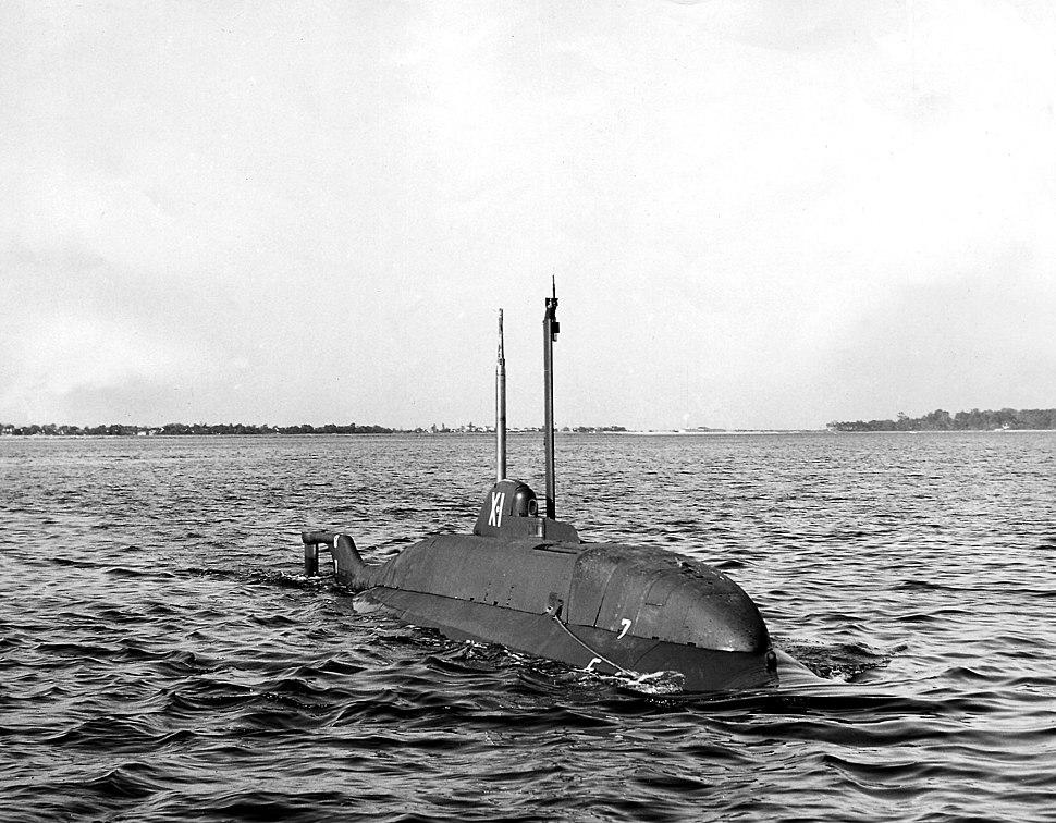 X-1 Submarine, sea trial (undated)