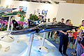 XAT-5 Advanced Trainer Model Display at AIDC Booth 20150815b.jpg