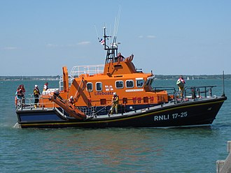 Yarmouth Lifeboat Station - Image: Yarmouth Old Gaffers Festival 2009 lifeboat demonstration shout 3