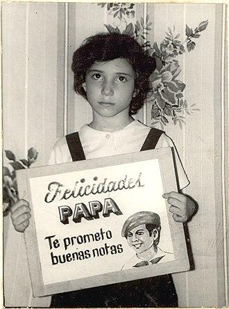 Yoani Sánchez - Sánchez as a child in 1982
