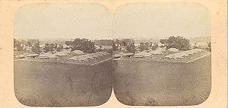 Pierre Rossier - View of Yokohama, 1859. Stereograph, albumen silver prints.