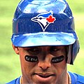 Yunel Escobar's anti-gay slur eye black.jpg