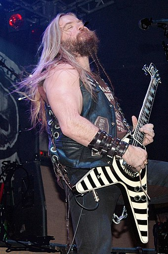Guitarist Zakk Wylde played with the band for several weeks and was considered as a potential second guitarist in 1995. Zakk Wylde 1.jpg