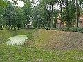 Zespół zamkowy (XV-XVIw.) obwarowania ziemne z fosami (XVIIw.) (fot. 1) - Kodeń powiat bialski woj. lubelskie ArPiCh A-55.JPG