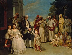 Company rule in India - The family of Chief Justice Sir Elijah Impey in Calcutta, 1783
