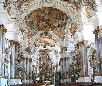 Zwiefalten Abbey - Interior of the abbey
