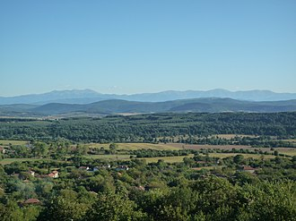 """Brestovo, Lovech Province - Image: """"BALKAN"""" mountain from Brestovo villages panoramio"""