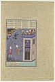"""Rudaba Makes a Ladder of Her Tresses"", Folio 72v from the Shahnama (Book of Kings) of Shah Tahmasp MET DP107194.jpg"