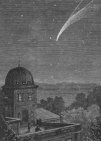 Paul Philippoteaux - Illustration by Philippoteaux for Jules Verne's 1877 novel Off on a Comet