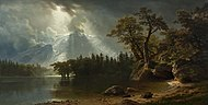 'Passing Storm over the Sierra Nevadas' by Albert Bierstadt, San Antonio Museum of Art.jpg