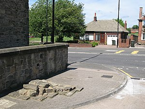 East Denton - Image: (A very small part of) Hadrian's Wall geograph.org.uk 837908