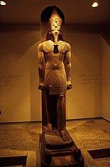 Statua di Amenofi III su slitta processionale