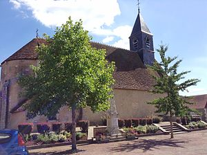 Chambon, Cher - The church of Saint-Pierre, in Chambon