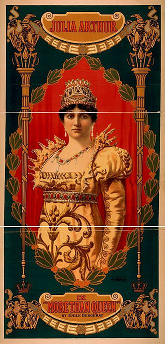 Émile Bergerat - Poster for More Than Queen, the Broadway production of Bergerat's play Plus que Reine in New York City in 1899.