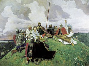 Boyan (bard) - Boyan (accompanying on the gusli) by Viktor Vasnetsov