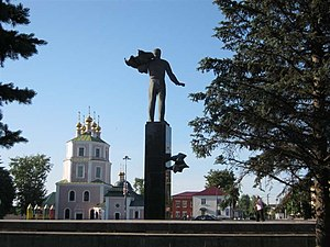 Gagarin, Smolensk Oblast - Monument to Yuri Gagarin in the town