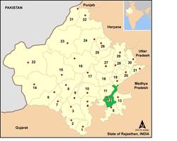 Vị trí của Huyện Kota