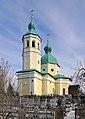 Церковь Иоанна Богослова. Вид со стороны колокольни через кладбище.jpg