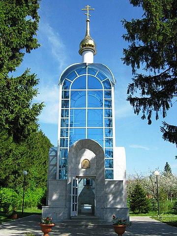Часовня в селе Шоршелы, место захоронения космонавта А.Г.Николаева.