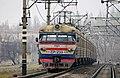 ЭР1-233, Украина, Днепропетровская область, станция Никополь (Trainpix 210653).jpg