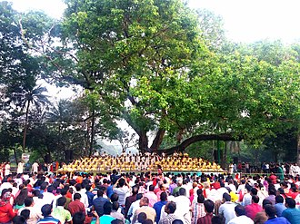 Chhayanaut - Chhayanaut celebrating new Bangla year 1424 in Ramna Park, Dhaka
