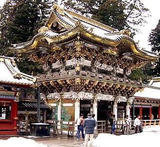 Karamon - Yōmeimon, a karayotsuashimon at Nikkō Tōshō-gū