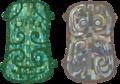 绿松石镶嵌青铜兽面牌饰.png
