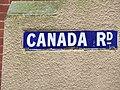 -2020-02-16 Blue enamel street name sign, Canada Road, Cromer.JPG