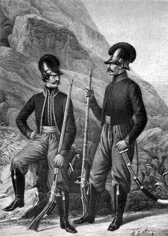 Greeks in Ukraine - Non-commissioned officers and men of the Greek Balaklava Infantry battalion, 1797-1830