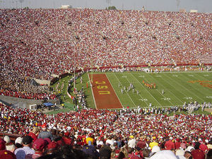 2004 USC Trojans football team - California at USC before the first non-rivalry-game sell out at the Los Angeles Coliseum in 52 years.
