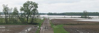 One Hundred and Two River - One Hundred and Two River east of Maryville, Missouri during May 2007 flood. The river itself is on the extreme right.  Most of the water in the photo is from the flood.