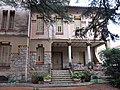 110 Casa Barbey, façana nord, porxo (la Garriga).JPG