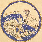 World map by Moroccan cartographer al-Idrisi for King Roger of Sicily.