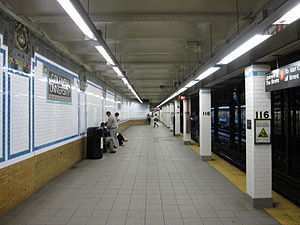116th Street–Columbia University (IRT Broadway–Seventh Avenue Line) - Platform for uptown trains
